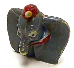 Click here to enlarge image and see more about item CH0309AA1: 1960s Disneykin DUMBO Elephant Toy-1st Series