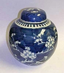Click here to enlarge image and see more about item CH0318A1-2006: Antique KANGXI PRUNUS BLOSSOM Ginger Jar