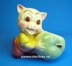 Click here to enlarge image and see more about item CH0901A1-2007: Vintage PORKY PIG Character Pottery Planter