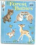 Click here to enlarge image and see more about item CHB0429AA5A: FOREST BABIES Elf Book #8328 - 1959