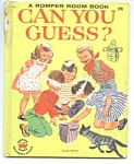 Click here to enlarge image and see more about item CHB1023A2: ROMPER ROOM CAN YOU GUESS? Wonder Book