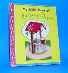 MY LITTLE BOOK OF NURSERY RHYMES Tiny Book - 1948