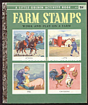 FARM STAMPS -  Little Golden Book - 1957