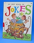 Click here to enlarge image and see more about item CHBK1025A5: MY FIRST BOOK OF JOKES-Wonder Book-1962