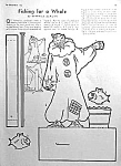 Click here to enlarge image and see more about item CI0114AA1: 1950 CIRCUS CLOWN Fishing Page Project