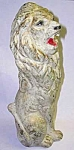 Click here to enlarge image and see more about item CI0423A1-2006: Huge Vintage CHALKWARE CARNIVAL LION PRIZE BANK