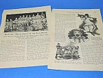 1927 Clown Troupe CIRCUS Mag. Article