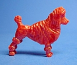 Click here to enlarge image and see more about item CJ1111B9-2006: Cracker Jack Prize: 1950s POODLE DOG STANDUP