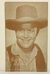 Click here to enlarge image and see more about item COW1230A1: 1940s Rufus Davis COWBOY Penny Arcade Card