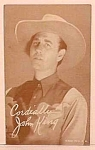 Click here to enlarge image and see more about item COW1230A3: 1940s John King COWBOY Penny Arcade Card