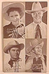 Click here to enlarge image and see more about item COW1230A6: 1950s FOUR COWBOY Penny Arcade Card
