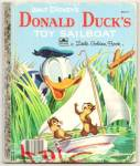 Click here to enlarge image and see more about item DAD052509A034: DONALD DUCK Toy Sailboat Little Golden Book