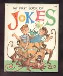 Click here to enlarge image and see more about item DCHBK012609A022: MY FIRST BOOK OF JOKES-Wonder Book-1962