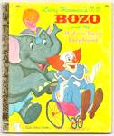 Click here to enlarge image and see more about item DCHBK051709A049: TV BOZO and the HIDE N SEEK ELEPHANT Little Golden Book