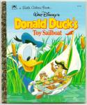 Click here to enlarge image and see more about item DCHBK051709A083: DONALD DUCK Toy Sailboat Little Golden Book