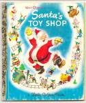 Click here to enlarge image and see more about item DCHBK051709A098: Disney SANTA TOY SHOP Little Golden Book