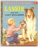 Click here to enlarge image and see more about item DCHBK053009A008: LASSIE AND THE LOST EXPLORER - Little Golden Book-1958