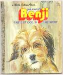 Click here to enlarge image and see more about item DCHBK053009A023: BENJI - FASTEST DOG IN THE WEST - Little Golden Book