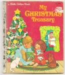 Click here to enlarge image and see more about item DCHBK053009A033: MY CHRISTMAS TREASURY - Little Golden Book
