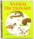 Click here to enlarge image and see more about item DCHBK070509A012: ANIMAL DICTIONARY - Little Golden Book