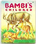 Click here to enlarge image and see more about item DCHBK070509A024: BAMBI'S CHILDREN - Wonder Book 1951