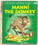 Click here to enlarge image and see more about item DCHBK070509A061: Disney MANNI THE DONKEY Little Golden Book