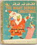 Click here to enlarge image and see more about item DCHBK091909A015: THE NIGHT BEFORE CHRISTMAS Little Golden Book -1949