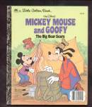 Click here to enlarge image and see more about item DCHBK092608A046: MICKEY MOUSE AND GOOFY Big Bear Scare Little Golden Bk