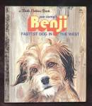 Click here to enlarge image and see more about item DCHBK092608A113: BENJI - FASTEST DOG IN THE WEST - Little Golden Book