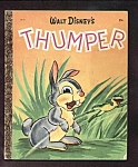 Click here to enlarge image and see more about item DCHBK102108A033: Disney THUMPER (Bambi) Little Golden Book