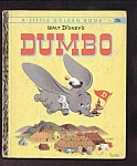 Click here to enlarge image and see more about item DCHBK102108A070: DUMBO Little Golden Book - Disney