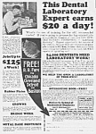 Click here to enlarge image and see more about item DE0620AA2: 1926 MECHANICAL DENTISTRY/Denture Ad