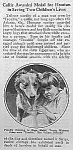 Click here to enlarge image and see more about item DG0323AA1: 1924 HERO COLLIE DOG Mag. Article L@@K!