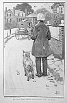 Click here to enlarge image and see more about item DG0327AA1: 1906 WALTER APPLETON CLARK Dog Mag. Print