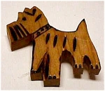 Vintage Figural Wooden WESTIE DOG Pin