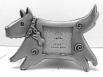 Click here to enlarge image and see more about item DG0915A1: NEW Doggie Metal Picture Frame