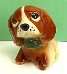 Click here to enlarge image and see more about item DG1230A1: Early PUPPY DOG Mini Pottery Planter