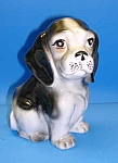 Click here to enlarge image and see more about item DG703A1: Vintage Puppy/DOG Pottery Planter