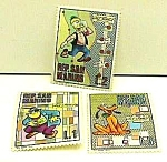 Click here to enlarge image and see more about item DI0306AA4: 1970 DISNEY CHARACTER Postage Stamps