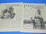 1927 Vint. DIVING-DIVER Salvage Mag. Article
