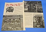 Click here to enlarge image and see more about item FI0105A1: 1957 BUS THAT GREW INTO A FIRE TRUCK Mag. Article