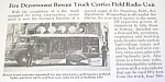 Click here to enlarge image and see more about item FI1002AA1: 1940 PASADENA FIRE RESCUE TRUCK Mag. Article