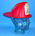 Click here to enlarge image and see more about item FI703A1: 1955 Hartford Fire Insurance JUNIOR FIRE MARSHAL Helmet