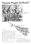 Click here to enlarge image and see more about item FISH0121A1: 1947 Fred Arbogast HAWAIIAN WIGGLER FISHING LURE Ad