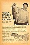 Click here to enlarge image and see more about item FISH0121A2: 1947 Fred Arbogast HAWAIIAN HULA DANCER FISHING LURE Ad