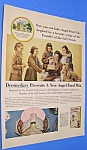 1956 GIRL SCOUTS FOUNDER Dromedary Ad