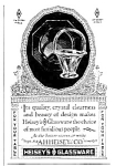 Click here to enlarge image and see more about item GL0122A1: 1925 HEISEY'S Glassware Ad