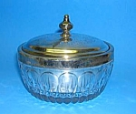 Click here to enlarge image and see more about item GL0514AA6: Towle GLASS CANDY DISH/Silverplate Insert
