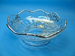Click here to enlarge image and see more about item GL1123BAA7-2006: Vintage SILVER OVERLAY Scalloped Candy-Nut Dish