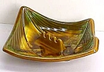Click here to enlarge image and see more about item GL824A1: Vint. California Pottery Shabby Chic ASHTRAY